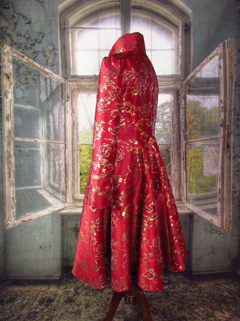 Handmade Red Reversible Coat