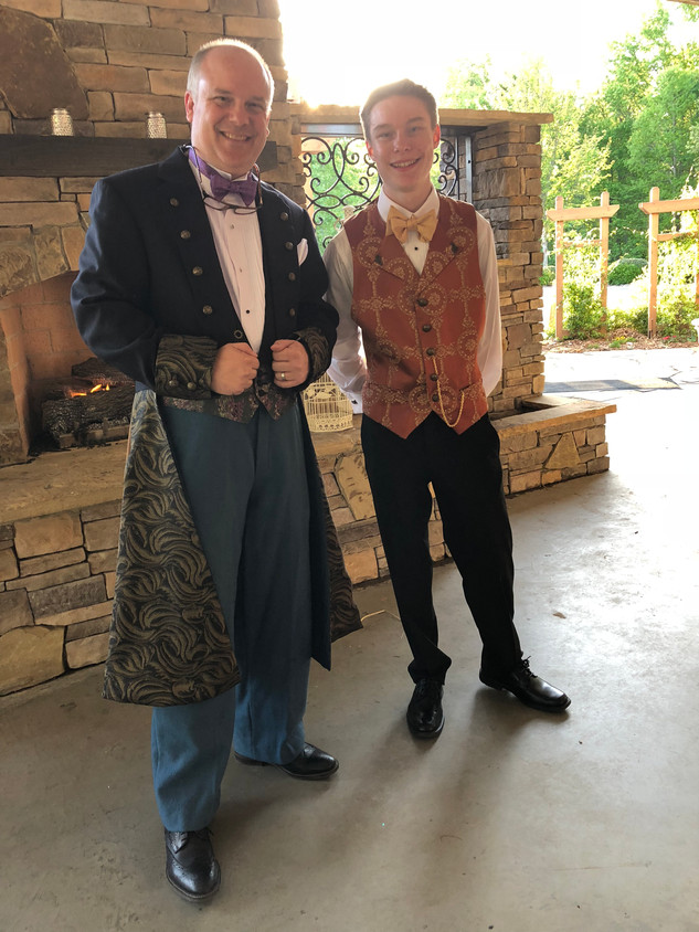Custom-made Admiral Frock Coat and Steampunk Vest