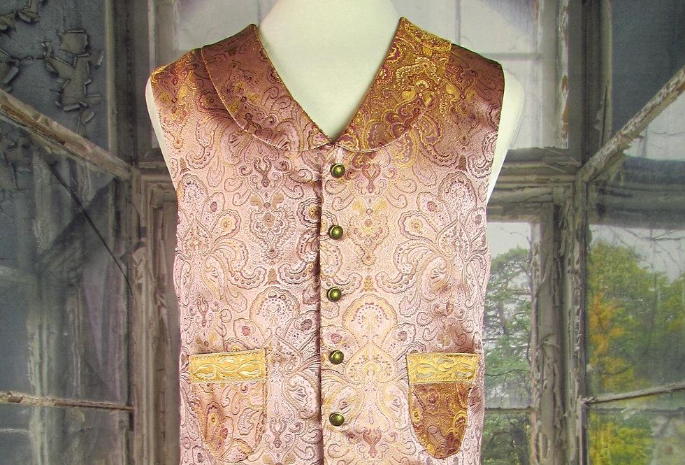 Pink Brocade Steampunk Dandy Vest