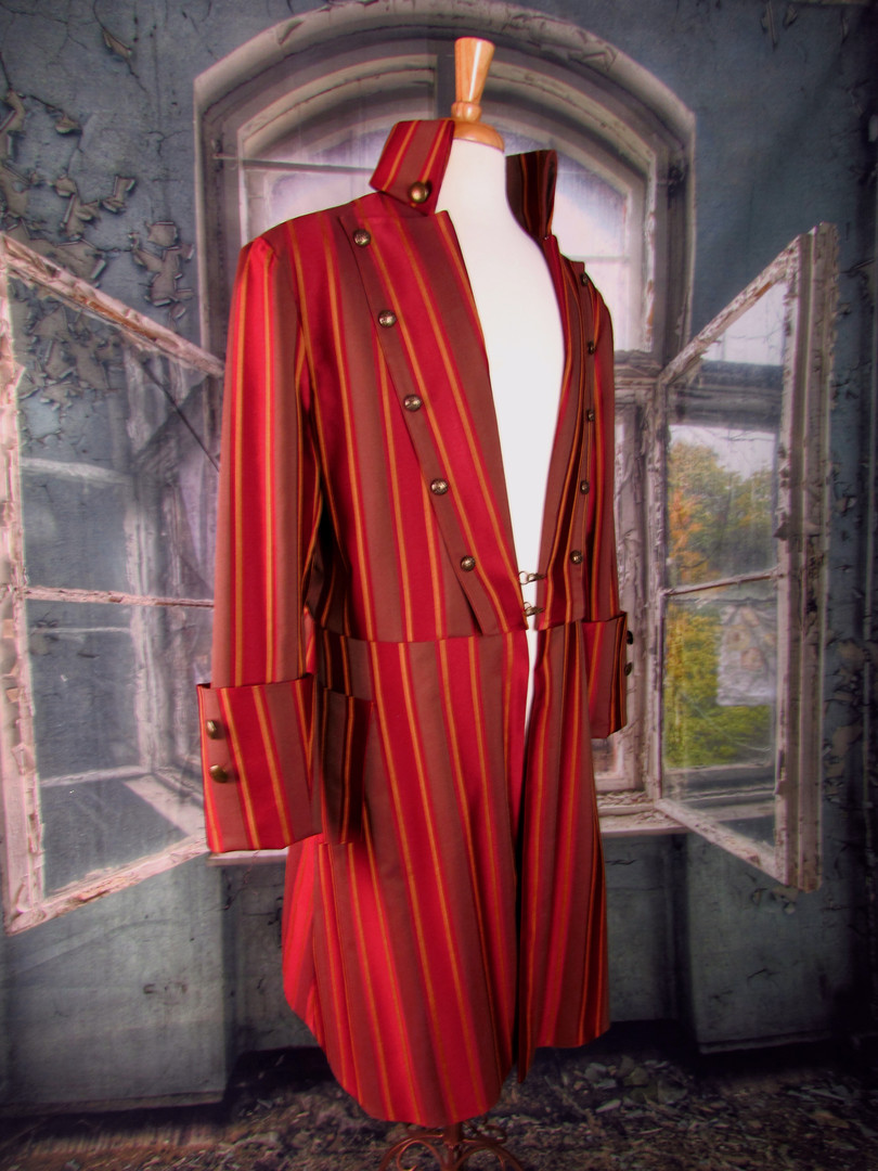 Red Striped Pirate Frock Coat