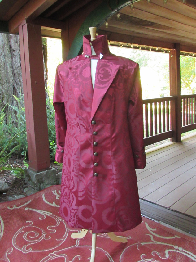 Burgundy Pirate Coat - Special Order