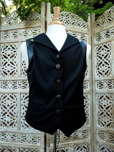 Handmade Black Goth Vest