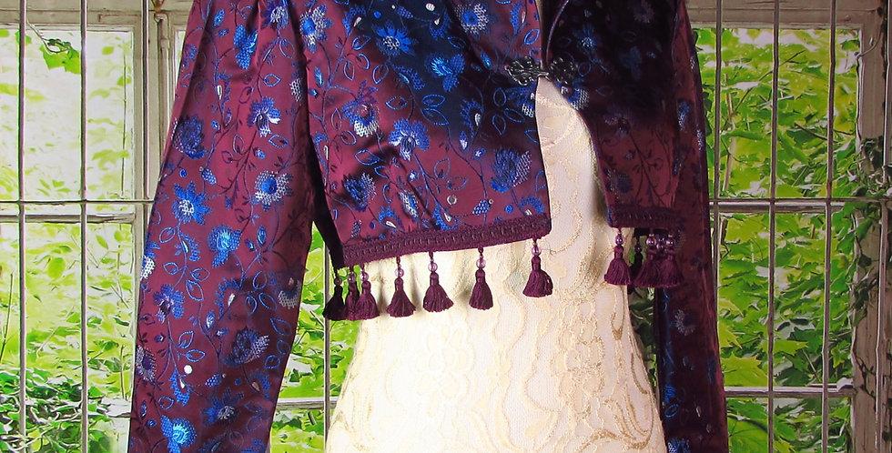 """""""Laila"""" Bolero in Purple Brocade"""