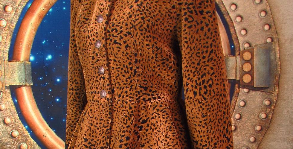 """""""Olivia"""" Coat in Animal-Print Velvet"""