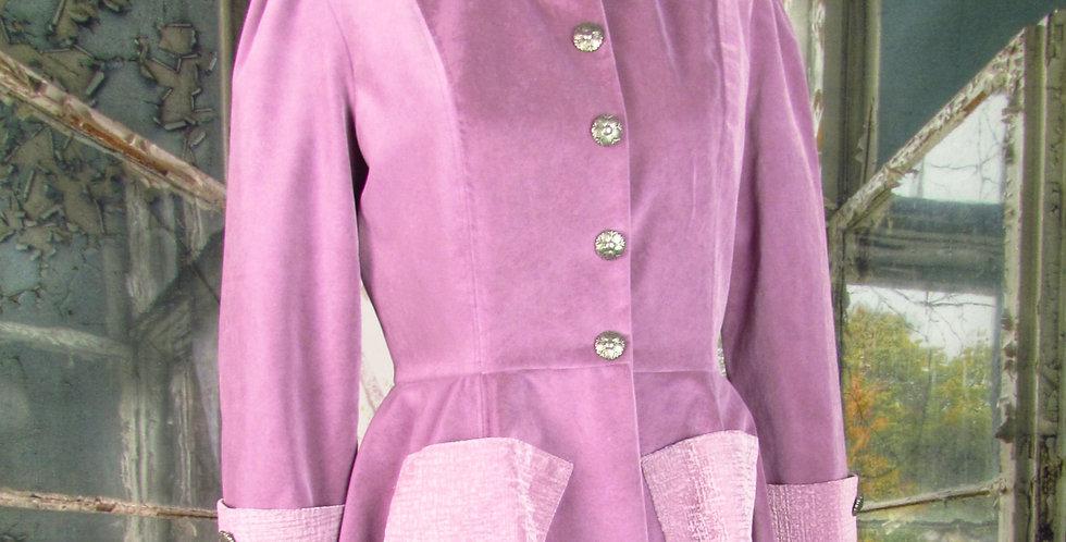 """""""Grace"""" Swing Coat in Lavender Velvet"""