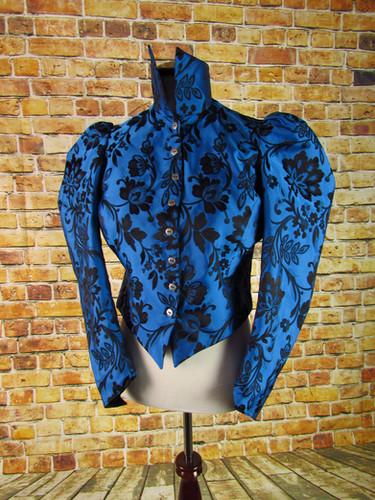 Handmade Moody Blue Victorian Shirt Jacket