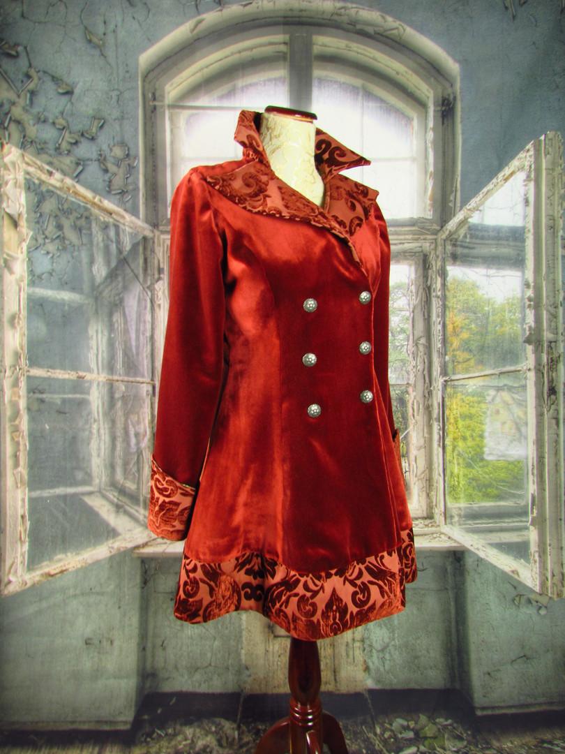 Red Velvet Victorian Coat