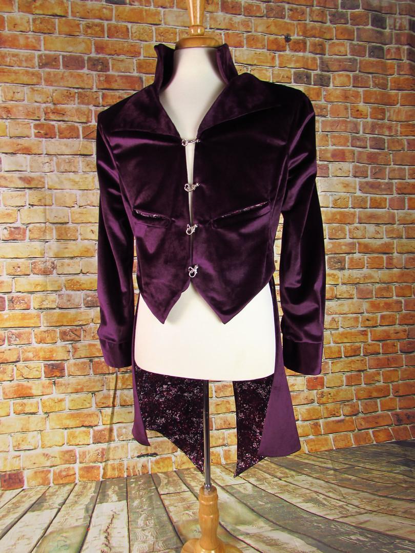 Purple Velvet Tailcoat