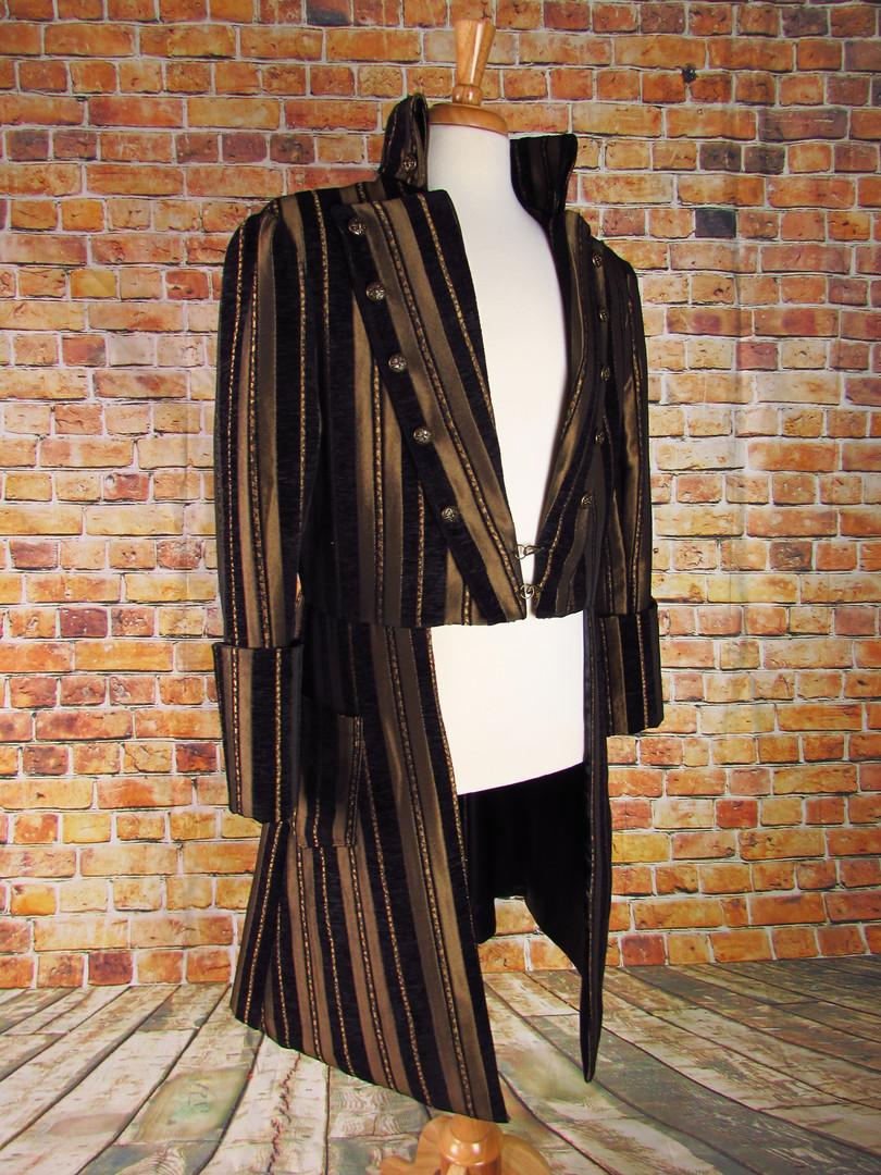 Handmade Striped Brocade Frock Coat