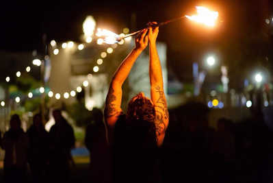 Highly Flammable Fire Performer - Staff