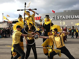 Sports supporters at Wellington Phoenix game