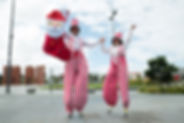 Candy Cane StiltWalkers