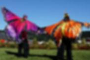 Formal stilt walkers Auckland waterfront