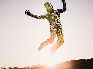 Mirrorman jumping