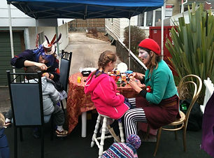 Face Painter with kid