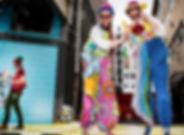 Bouncy Clown Stilt Walkers