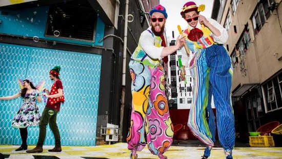 Circus Stilt walkers in Wellington.jpg