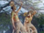 Mythical Faun Stilt Walkers