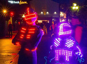 LED Glow Suit Performers
