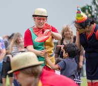 Circus Instructor teaching spinning plat