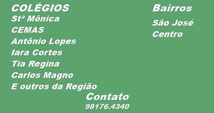 Colégio Santa Mônica, CEMAS, Antônio Lopes, Iara Cortes Tia Regina, Carlos Magno.