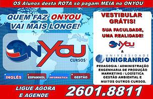 ONYOU cursos e  UNIGRANRIO - Grupo Transporte Legal