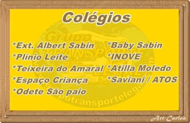 Colégio odete São Paio Transporte Escolar