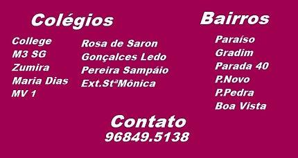 Colégio M3 SG, College, Zumira, MV1, Rosa de Saron, Gonçalves Ledo, Pereira Sampaio Externato SantaMônica.