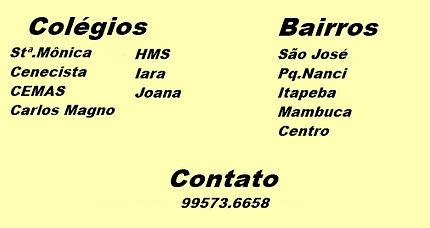 Colégio Santa Mônica, Cenecista, CEMAS, Carlos Magno, HMS,Iara, Joana.