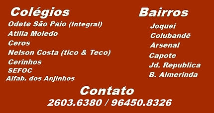 Colégio Odete São Paio, Colégio Atilla Moledo, Colégio CEROS, Colégio Tico e Teco, Colégio SEFOC, Colégio Alfabeto dos Anjinhos,  Colégio Nelson Costa, Colégio Cerinhos