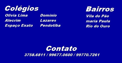 Colégio Olívia Lima, Alecrim, Espaço Exato, Domínio, Lazares, Pendotiba.