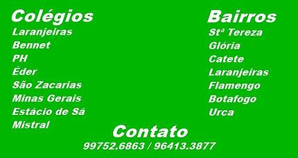 Colégio Larangeiras, Benet, PH, ède, S~~ao Zacarias Minas Gerais, Estácio de Sá, Mistral.