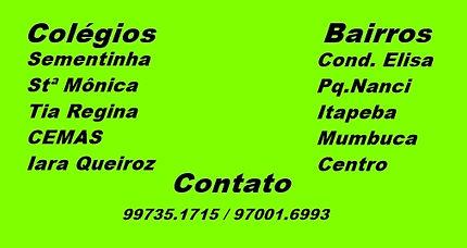 Colégio Santa Mônica, Sementinha, Tia Regina, CEMAS, Iara Queiroz.