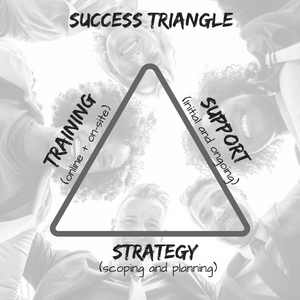 The Success Triangle; getting the right strategy, the support and training for successful software implementation.