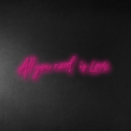 All You Need Is Love 80cm Neon Sign