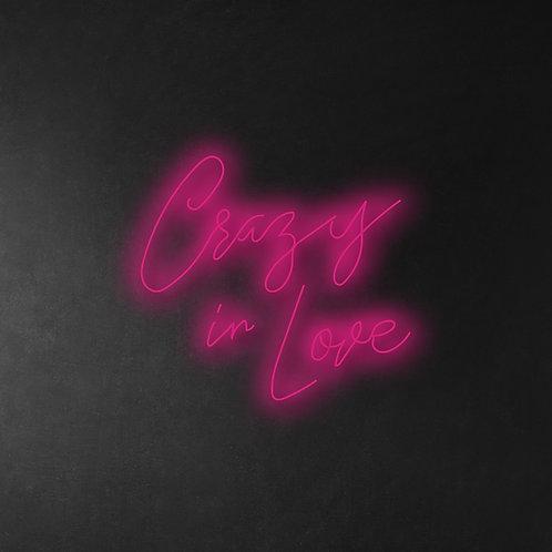 Crazy In Love 60cm Neon Sign