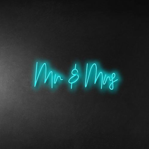 Mr & Mrs 100cm Neon Sign