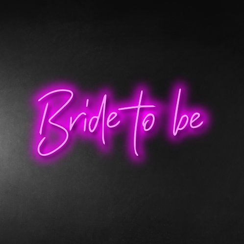 Bride To Be 80cm Neon Sign
