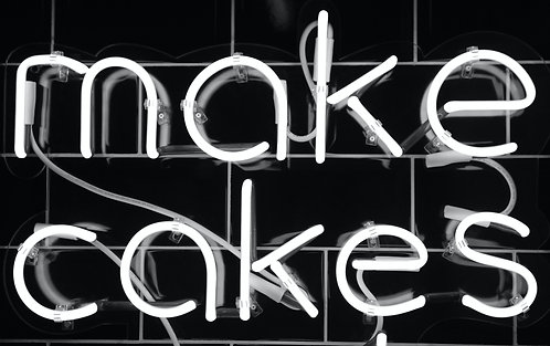 Make Cakes Neon Sign