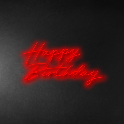 Happy Birthday 80cm Neon Sign