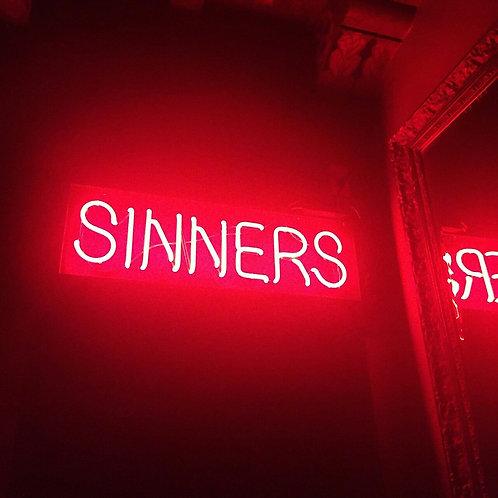 Sinners Neon Sign