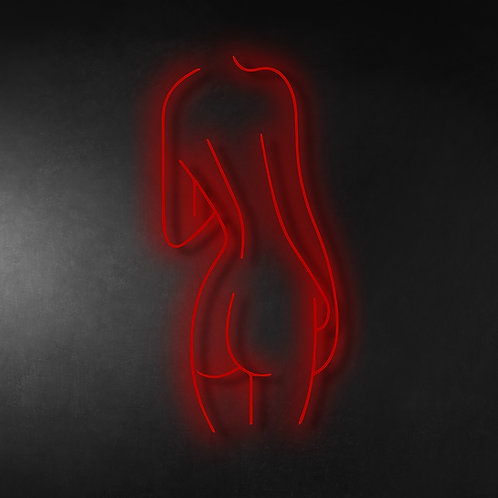 Lady Back 30cm Neon Sign