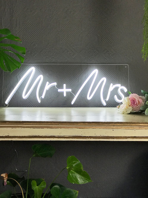 Mr & Mrs Neon Sign