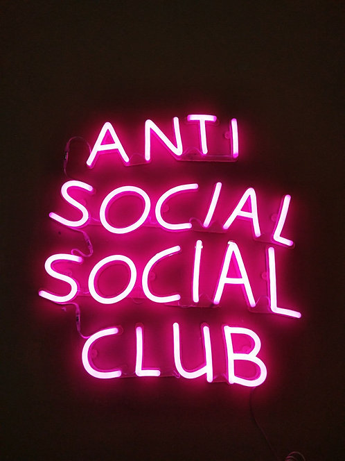 Anti Social Social Club Neon Sign