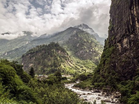 Népal: De Daraphani (2160m) à Chame (2710m)