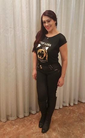 Modelo Top Loba Helena Pereira