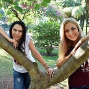 Nossas modelos Lis Silva Cruz e Margot Quintão passaram a tarde fazendo fotos para um Projeto de Empoderamento e Autoestima no Rio de Janeiro!