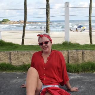 Amo passear pela praia