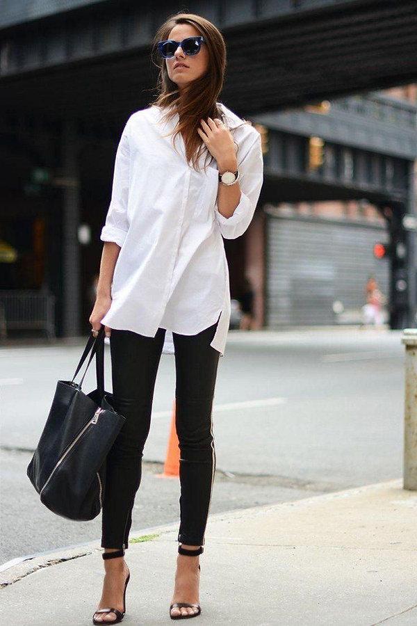 Comment porter la chemise blanche en mi-