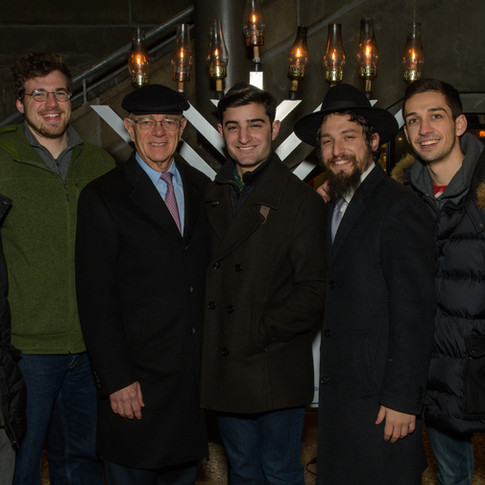 Chabad Menorah Lighting with President Reif 2017